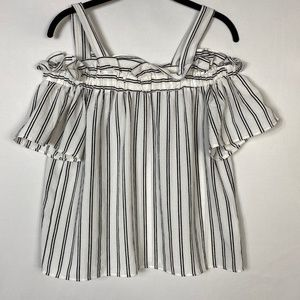 Papermoon off shoulder top with straps Size Large